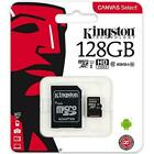 Kingston SDCS 4GB 8GB 16GB 32GB 64GB 128GB 256GB Micro SD HD Speicher Class 10