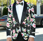 Mens INSOMNIA MANZINI Entertainer Sport Jacket Blazer Black with Pink Florals
