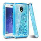 For Samsung Galaxy J Series 2018 Glitter Liquid Sparkle Dual Layer Bumper Case