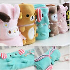 Good Quality Cozy Soft Plush Fleece Throw Blanket Comfortable Flannel Cartoon QP image