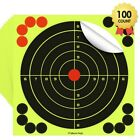 30/50/100 Pack Reactive Splatter Gun Rifle Pistol Shooting Targets Glow Shot USATargets - 73978