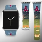Los Angeles Angels Apple Watch Band 38 40 42 44 mm Fabric Leather Strap 02 on Ebay
