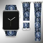 San Diego Padres Apple Watch Band 38 40 42 44 mm Fabric Leather Strap 02 on Ebay