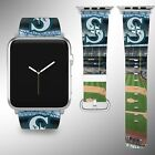 Seattle Mariners Apple Watch Band 38 40 42 44 mm Fabric Leather Strap 02 on Ebay