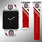 Washington Nationals Apple Watch Band 38 40 42 44 mm Fabric Leather Strap 01 on Ebay