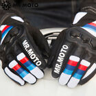 Cafe Racer Leather Touch Screen Glove Style BMW Motorrad Rider SBK S1000RR CBR