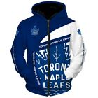 TORONTO MAPLE LEAFS Hoodie Ice Hockey Hooded Zipper Pullover S-5XL NEW DESIGNS $53.99 USD on eBay