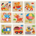 Educational 3d Puzzle Kid Toys 9x Wooden Materials Animal Vehicle Theme Designed