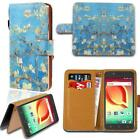 Leather Smart Stand Wallet Card Cover Case For Various Alcatel OneTouch Phone