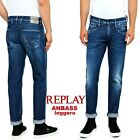 Jeans da uomo REPLAY ANBASS slim fit denim leggero comfort stretch M914C 115 437