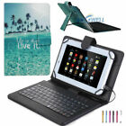 "US For 9.7-10.1"" Tablet PU Leather Stand Case Cover With USB Keyboard-Blue Ocean"