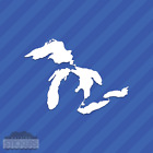Great Lakes Outline Vinyl Decal Sticker Michigan Superior Huron Erie Ontario