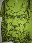 NEW Mens Small or LARGE t-shirt FRANKENSTEIN GREEN MONSTER S L tshirt TOP knit image