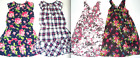 THE CHILDREN'S PLACE Plaid FLORAL Short Sleeve Sleeveless Ruffled DRESS 6 7 8 9