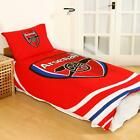 Football Clubs Single Bedding Set Duvet Covers Reversible Pillowcover Badge
