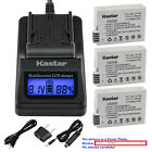 Kastar Battery LCD Fast Charger for Canon LP-E8 LC-E8 & Canon EOS Kiss X6 Camera