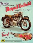 Royal Enfield Meteor 700 1954 Motorcycle Big Twin Vintage Poster Print Art