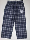 New York Yankees Team Colored Plaid Flannel Sleep Pants - Child on Ebay