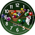 Personalized Billiards Clock hands and edges white $189.0 USD on eBay