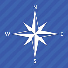 Compass North South East West Vinyl Decal Sticker
