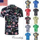 Fashion Hawaiian Shirt Mens Flower Beach Aloha Party Casual Holiday Short Sleeve image