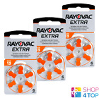 RAYOVAC EXTRA ADVANCED SIZE 13 MF PR48 HEARING AID BATTERIES 1.45V ZINC AIR NEW