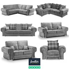 Verona Grey Fabric Corner, 3 Seater, 2 Seater & Armchair | Scatter or High Back