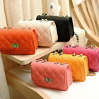 Women's Small Crossbody Handbag Quilted Purse Bag with Chain Shoulder Strap
