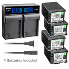 Kastar Battery LCD Rapid Charger for Canon BP-820 BP-828 Canon XA35 Video Camera