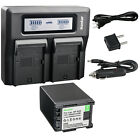 Kastar Battery Dual Fast Charger for Canon BP-820 BP-828 Canon VIXIA XA35 Camera