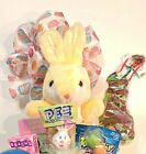 Easter Gift Basket Bunny Chocolate Candy FREE Necklace Betsey Johnson