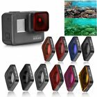 UV CPL Star Red Yellow Magenta Diving Filter Kits For GoPro Hero 5 6 7 Black Top