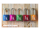 Personalised Engraved Love Padlock - Available in 5 colours - Add your message