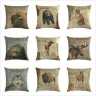 18'' Vintage Animal Cojines Throw Pillow Case Home Sofa Cushion Cover Decorative