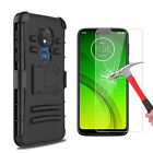 For Motorola Moto G7 Optimo/Optimo Maxx Case With Stand Clip / Screen Protector