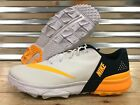 Nike FI Spikeless Golf Shoes White Gold Navy SZ ( 849960-102 ) NEW!!