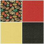 Kyпить ASIAN FANFARE Fabric Fabri-Quilt Quilting Cotton Metallic Gold Black Red Masks на еВаy.соm