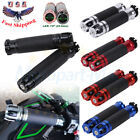 Universal Motorcycle Handle Bar Grips Rubber Gel Aluminum 7/8'' For Sports Bikes $15.38 USD on eBay