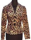 Cache Silk Congo Animal Print Lined Jacket Top New 0/2/4/6/8/10 xs/s/m  $208 NWT