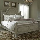 Liberty Funiture Grand Estates King Poster Bed in Gray Taupe/Antique Brow