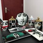 Fornasetti Candle Holder Plate Jewelry Storage Dish Ornaments Rectangular Tray