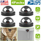 4x Dummy Dome Fake Security Camera CCTV False IR LED W/ Flashing Red LED Light