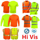 Safety Work Hi Vis Vest T Shirt Long Sleeve ANSI High Visibility Reflective Tape