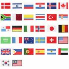 International World Countries Flag Embroidered Iron ON Patch Arm Badge U-pick