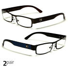 Small Women Clear Lens Square Rx Sunglasses Black Silver Eyeglasses Brown Blue