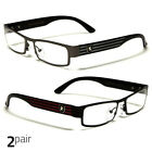 Small Women Clear Lens Square Rx Sunglasses Black Silver Eyeglasses Gunmetal Red