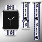 Baltimore Ravens Apple Watch Band 38 40 42 44 mm Fabric Leather Strap 2 $29.97 USD on eBay