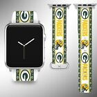 Green Bay Packers Apple Watch Band 38 40 42 44 mm Fabric Leather Strap 2 $29.97 USD on eBay