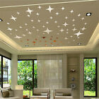 50pcs 3d Star Ceiling Mirror Wall Sticker Art Decal Ceiling Wall Decor Removable