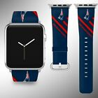 New England Patriots Apple Watch Band 38 40 42 44 mm Fabric Leather Strap 2 $29.97 USD on eBay